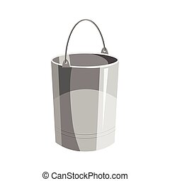 Bucket icon, cartoon style
