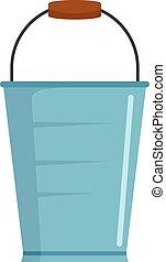 Bucket icon, flat style