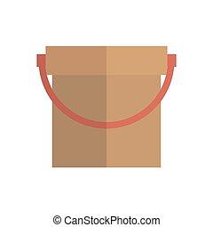 Bucket. Icon on isolated background