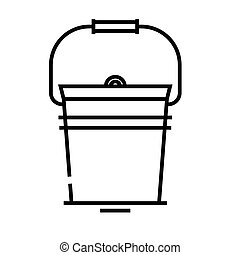 Bucket line icon, concept sign, outline vector illustration, linear symbol.