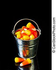 Bucket of candy corn