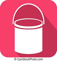 bucket of paint flat icon