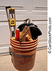Bucket of Tools - Ready for the construction job with bucket...