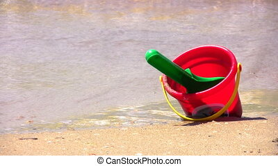 bucket on beach - Bucket on beach