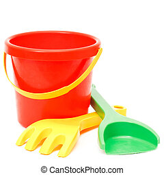 bucket rake and scoop, toys