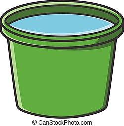 Bucket vector cartoon illustration