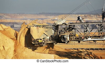Bucket Wheel Excavator Timelapse - Timelapse sequence of a...