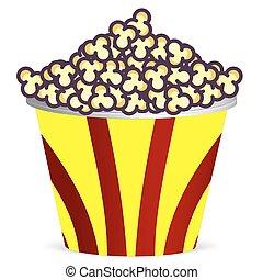 Bucket with popcorn
