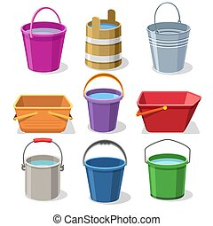 Buckets and pails set