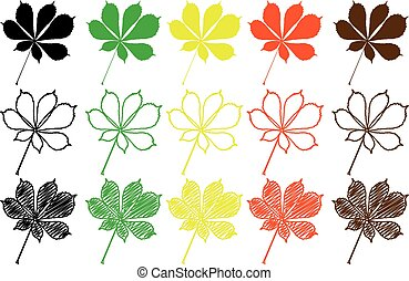 buckeye leaf color set
