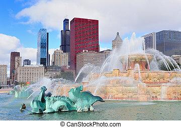 buckingham fontein, chicago