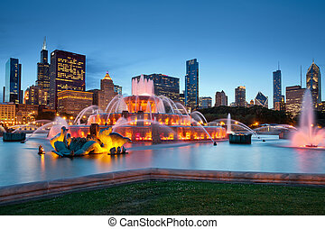 buckingham, fountain.