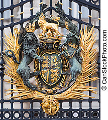 Buckingham palace detail - Buckingham palace. Detail of a...
