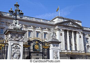 Buckingham Palace in London.