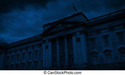 Buckingham Palace On Stormy Night