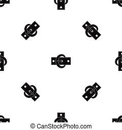 Buckle belt pattern seamless black