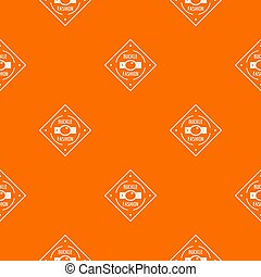 Buckle chrome pattern orange