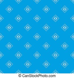 Buckle chrome pattern seamless blue