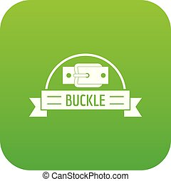 Buckle element icon green vector