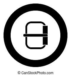 Buckle  icon black color in circle