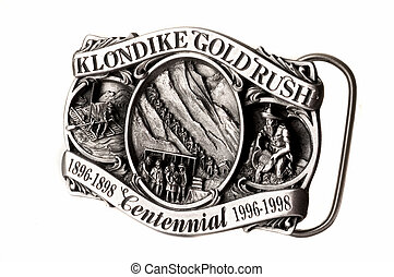 Buckle of belt gold rush
