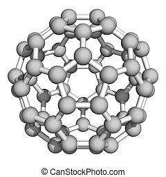 Buckminsterfullerene c60 molecule