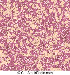 Buckthorn berries seamless pattern background