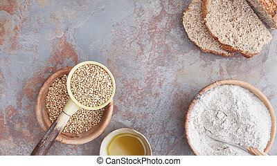 Buckwheat bread and ingredient