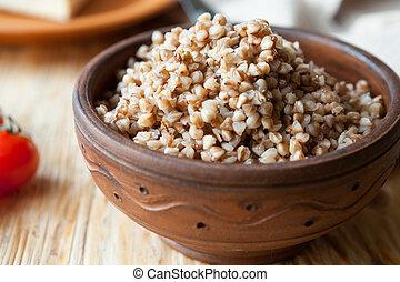 buckwheat in a ceramic bowl