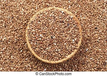 buckwheat in basket