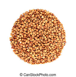 Buckwheat in the form of a circle.