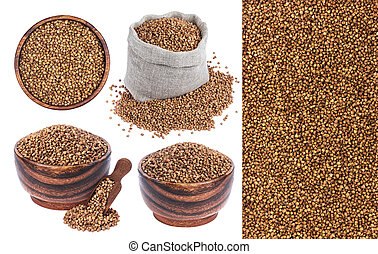 Buckwheat isolated on white background