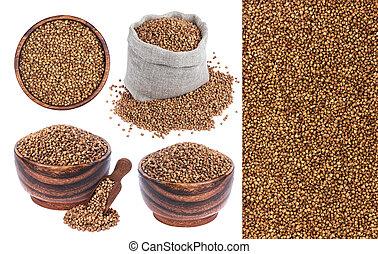 Buckwheat isolated on white background