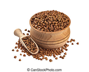 Buckwheat isolated on white background with clipping path