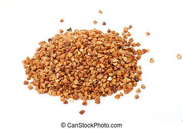 Buckwheat isolated on white