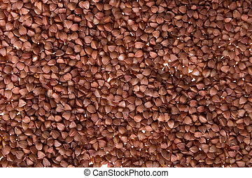 Buckwheat on a white background. Isolated. Close up. texture