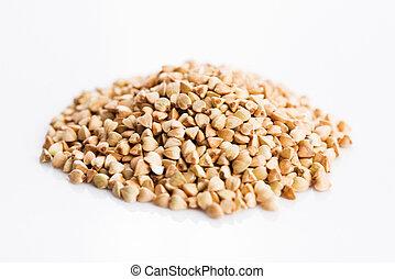 Buckwheat on a white background