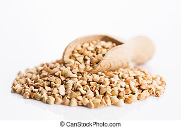 Buckwheat on a white background