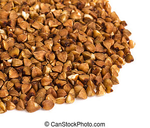 buckwheat on white background