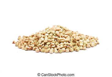Buckwheat on white