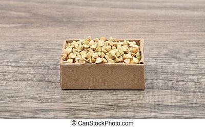 Buckwheat on wood