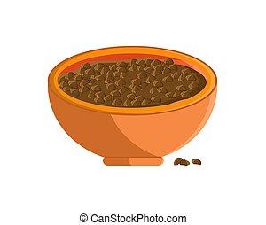Buckwheat Porrige in Bowl Vector Illustration