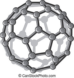 buckyball-molecular, budowa