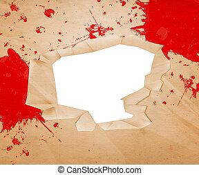 buco, carta, sangue