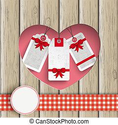 buco, cuore, prezzo, adesivi, legno