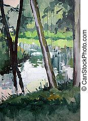 70x100 cm. Oil on canvas. Author: Andreas Guskos, 1998.