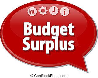 budżet, nadwyżka, czysty, handlowy, diagram, ilustracja