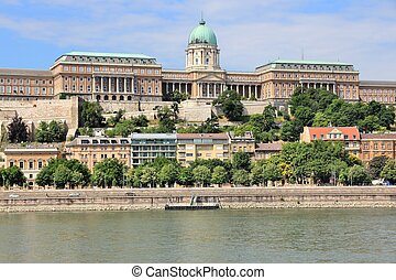 Budapest, Hungary - Buda Castle and Danube river.
