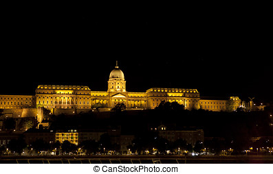 Buda castle, Budapest - Famous Buda Castle in Budapest,...