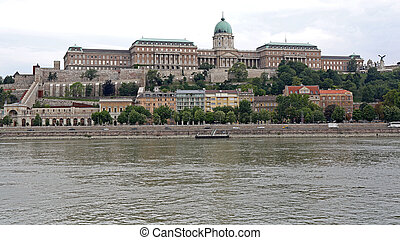 Historic Royal Buda Palace at Castle Hill in Budapest Hungary